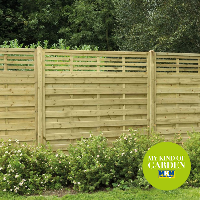 A contemporary japanese inspired fence design from the for The range garden screening