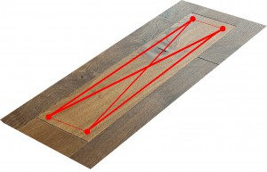 Red lines floor board