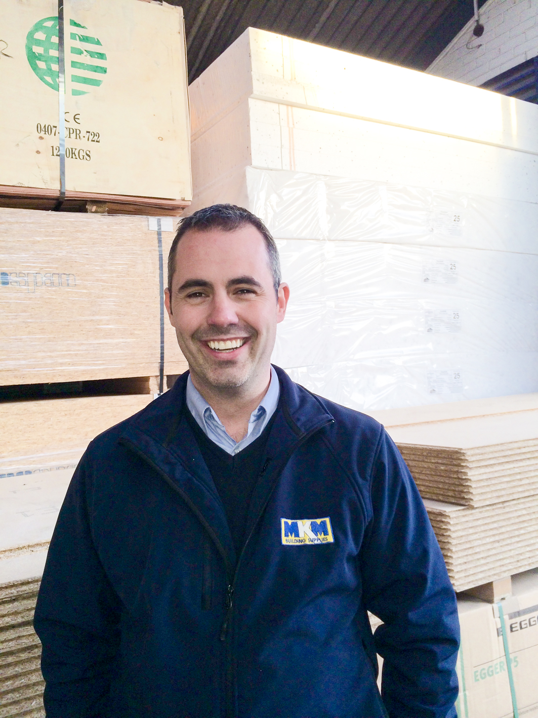 Scott McCabe, new branch manager of MKM Building Supplies in Redcar