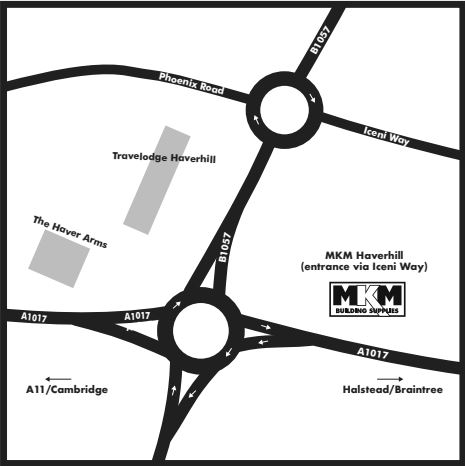 Haverhill butty map